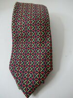 Hermes Paris 991 SA Plaid Checks Red Color Silk Necktie Tie Made In France