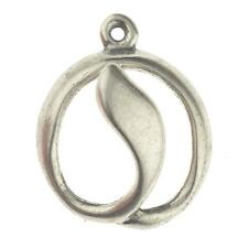 Sterling Silver Modernist Lilly Pendant for Necklace or Charm 1g 925 D390