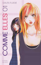 Collection de mangas Comme elles en français - Tomes 1 à 12 - Editions Delcourt
