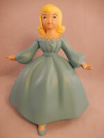 "Vintage 1973 Holland Mold 7"" tall Girl Blue Dress Ceramic Figurine w/ Red Hair"