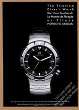 1985 Porsche Design Ocean Titanium diving diver's watch photo vintage print ad