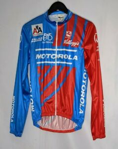 Vintage 90s Motorola Lance Armstrong Cycling Jersey Long Sleeve Italy sz 46 US36