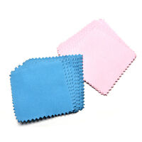 10xJewelry Polishing Cloth Cleaning for Platinum Gold and Sterling Silver LIAU