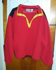 Vintage Marlboro Adventure Team Fleece Mens Size XL Button Up Jacket RED
