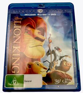The Lion King Blu-ray Region B + DVD PAL R4 M Diamond Edition Set Disney