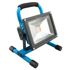 B-Ware NINETEC 20W LED Akku Baustrahler Flutlicht Arbeitsleuchte IP65 Blau