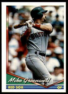 1994 Topps Spanish (Bilingual) #502 Mike Greenwell - Red Sox