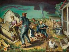 Tornado Over Kansas : John Steuart Curry : 1929 : Archival Quality Art Print