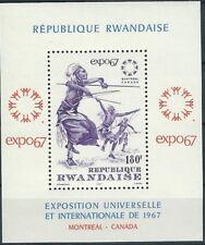Ruanda - Weltausstellung EXPO '67 Block 9 postfrisch 1967 Mi. 217
