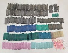 171 Vintage Mesh Spring Metal Hair Styling Curlers Hot Rollers Many Sizes + Pins