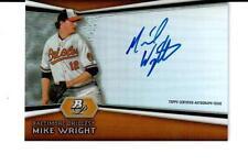 2012 Bowman Platinum Prospect Autographs #AP-MW Mike Wright Baltimore Orioles