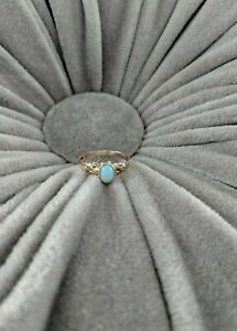 Victorian Vintage 10k Yellow Gold Opal Small or Child's Ring Size 5.5