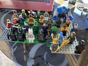 Lego minifigures (lot Of 27) superheroes marvel DC