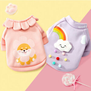 Cute Small Pet Dog Sweater Jacket Clothes Cartoon Pajamas Puppy Cat Coat Costume