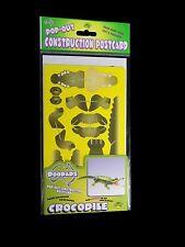 Australian Made Souvenir 3D Pop-Out Construction Postcard Doodad - Crocodile