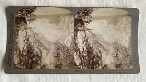 Artist Point Incredible Heights,Yellowstone Park U.S.A., 1904 Stereoview Slide
