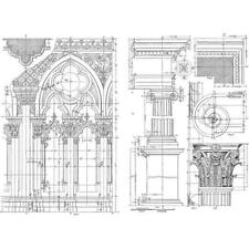 Tim Holtz Cling Rubber Stamps - Architecture CMS369