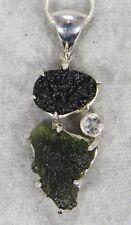 MOLDAVITE PENDANT $148 Tektite 925 Sterling Jewelry STARBORN CREATIONS MP148-2