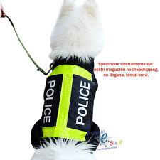 VESTITO CANE POLIZIA POLICE VESTITINO LEGGERO ESTIVO MAGLIA MAGLIETTA DOG T-SHIR