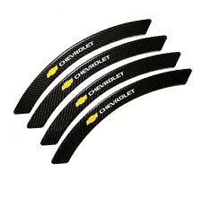 4Pcs Chevrolet Carbon Fiber Fender Arch Trim Stickers Car Wheel Eyebrow Strips