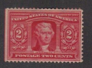 Scott # 324 beautiful Jefferson catalog value $27