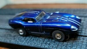 Aurora HO Tjet Original #1396 CANDY BLUE COBRA GT (PAINTED) + chassis