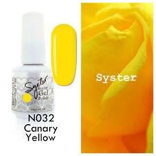 SYSTER 15ml Nail Art Soak Off Color UV Lamp Gel Polish N032 - Canary Yellow