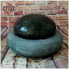 Gardenwize Garden Outdoor Solar Black & Grey Pebble Stone Water Fountain Feature