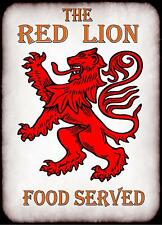 rojo león Cartel de pub, Señal Bar Pub Placa cocina Letrero Letrero De Pared