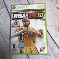 NBA 2K10 (Microsoft Xbox 360 2009) Kobe Bryant Cover Basketball Sports Videogame