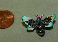 Rhinestone Honey Bumble Bee Insect Enamel Brooch Pin  6k 27