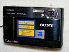 Sony Cyber-shot DSC-T10 7.2 MP Digital Camera - Black with charger and case