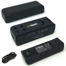 Wasabi Power Battery (2-Pack) and Dual USB Charger for Insta360 ONE R