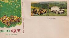 Y3818 Bhutan 5 June 1971 classic car issues 3d stamps - 2 First Day Covers