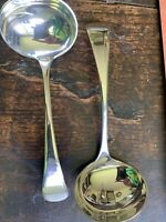 Pr Antique Late Victorian Very Bright Silver Plate Old English Ladles