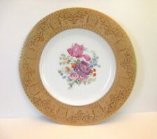 "Hutschenreuther ""Dresden Flowers"" 10 3/4"" Plate with Gold Rim"