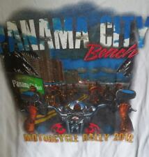 Panama City Beach Motorcycle Rally 2012 White XL T-Shirt 100% Cotton