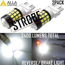 Alla Lighting LED 3457 STROBE Back Up Light Bulb|Brake|Center High Stop|Parking
