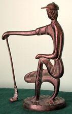 "GOLFER Bronze Vintage Modernist 7"" Sculpture, ca 1940-50s."