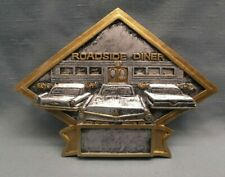 "resin plaque car show trophy Dps30 diamond road side diner 8 1/2"" x 6"" award"