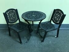Vtg IRON TABLE AND TWO CHAIRS Made for TOYS DOLLS Small CHILDREN or DECOR