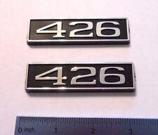 426 black plastic with chrome emblem emblems badge new
