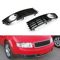 Pair Front Bumper Lower Fog Light Fog Lamp Grilles Grill For Audi A4 B6 02-05