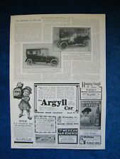 Original 1911 Page of Illustrated London News with Adverts Inc. Argyle Motor Car
