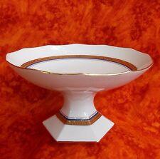Porzellan Limoge Art Deco Kompottschüssel oder Flache Servier- Achat gold @