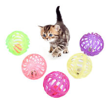 ALS_ 5x Pet Cat Kitten Hollow Ball Interactive Play Chewing Rattle Scratch Toy F