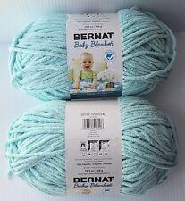 New listing Bernat Baby Blanket Yarn: 2 Balls, Super Bulky, Seafoam