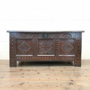 18th Century Oak Coffer with Inlay (M-2348) - FREE DELIVERY*