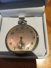 Antique Pocket Watch Platinium Switzerland by Agassiz W. Co. 21 Jewels Very Rare