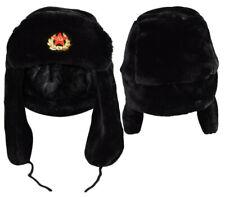 a62febda501 Russian Trapper Hat Soviet Badge Military Ushanka Cossack Winter Unisex Cap  New